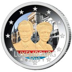 2 Euro Luxembourg colorisée 2019 - 100 ans de l'accession au trône de la Grande-Duchesse Charlotte