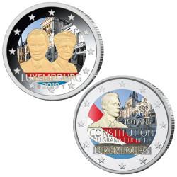 Lot des 2 x 2 Euro Luxembourg 2019-2018 colorisées