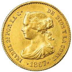 4 Escudos 1865-1868 - Isabel II