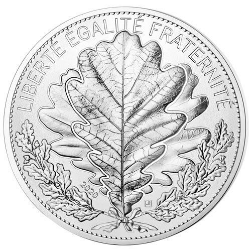100 Euro Argent France 2020 - Chêne