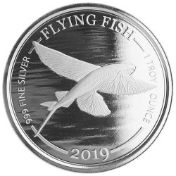 1 Dollar Argent BU 2019 - Poisson volant