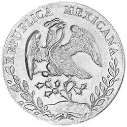 8 Reales Argent Mexique - Libertad