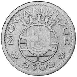 5 Escudos Argent  Mozambique 1960