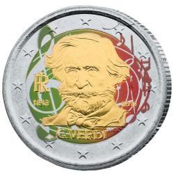 2 Euro Italie 2013 colorisée - Giuseppe Verdi