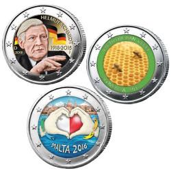 Lot des 2 x 2 Euro 2018 colorisées