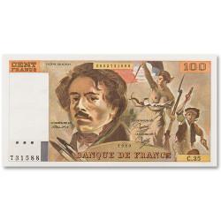 Billet 100 Francs Eugene Delacroix