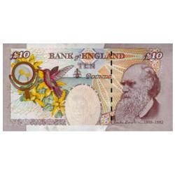 Billet 10 Livres Royaume-Uni 2004 - Charles Darwin