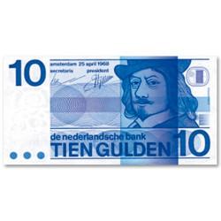 Billet 10 Gulden Pays-Bas 1968