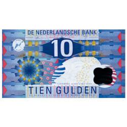 Billet 10 Gulden Pays-Bas 1997