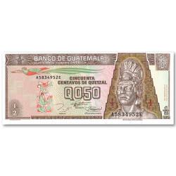 Billet 1/2 Quetzal Guatemala