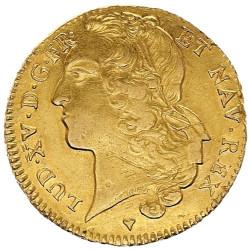 Double Louis d'Or Louis XV au bandeau