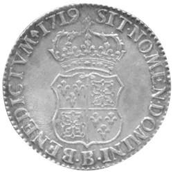 Écu d'Argent Louis XV de Navarre