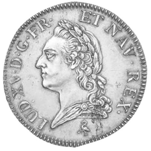 Écu d'Argent Louis XV à la vieille tête