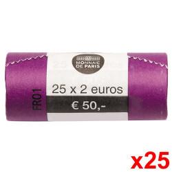 Le rouleau de 25 x 2 Euro France 2020