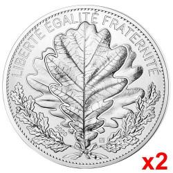 Lot de 2 x 100 Euro Argent France 2020
