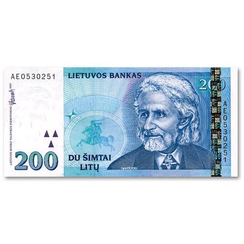 Billet 200 Litas Lituanie 1997