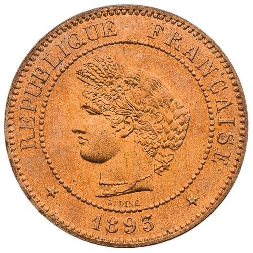 5 Centimes Cérès 1893