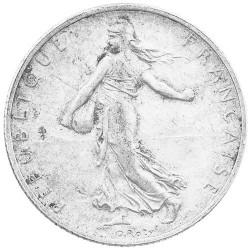 2 Francs Argent Semeuse 1920