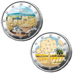 Lot des 2 x 2 Euro Malte 2019 colorisées