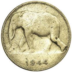 1 Franc Congo Belge 1944-1949