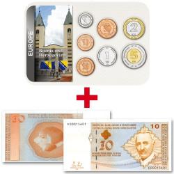Lot des monnaies Bosnie