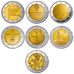 Lot des 7 x 2 Euro 2008