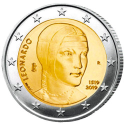 2 Euro Italie 2019 - 500 ans de la mort de Léonard de Vinci
