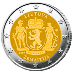 2 Euro Lituanie 2019 - Samogitie