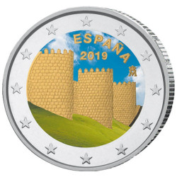 2 Euro Espagne 2019 colorisée - Ávila