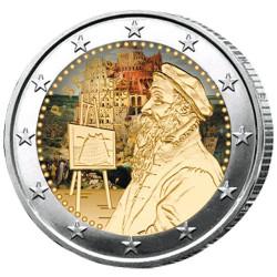 2 Euro Belgique 2019 colorisée - Pieter Bruegel l'Ancien