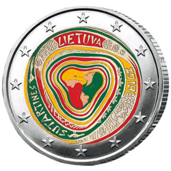 2 Euro Lituanie 2019 colorisée - Chants folkloriques