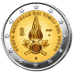 2 Euro Italie 2020 - Hommage aux sapeurs-pompiers