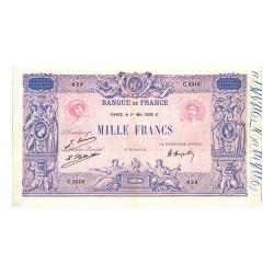 Billet 1 000 Francs Bleu et Rose