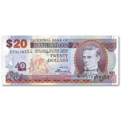 Billet 20 Dollars Barbades 2012