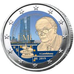 2 Euro Belgique 2019 colorisée - Fondation EMI