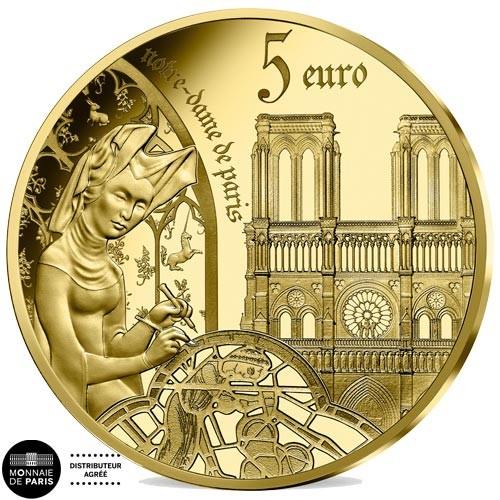 5 Euro Or France 2020 BE 2020 - l'époque Gothique