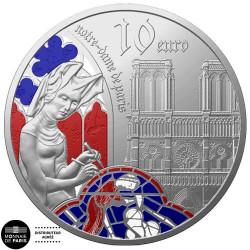 10 Euro Argent France BE 2020 colorisée - l'époque Gothique