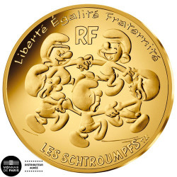 200 Euro Or France BU 2020 - La Ronde des Schtroumpfs