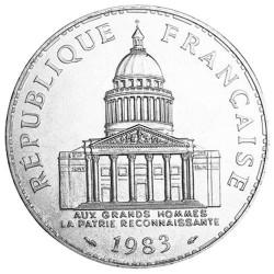 100 Francs Argent France Panthéon