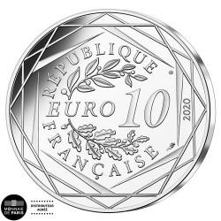 10 Euro Argent France 2020 - Schtroumpf Tailleur