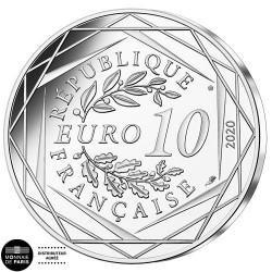 10 Euro Argent France 2020 - Schtroumpf Poète