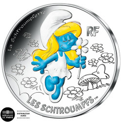 10 Euro Argent France 2020 colorisée - Schtroumpfette