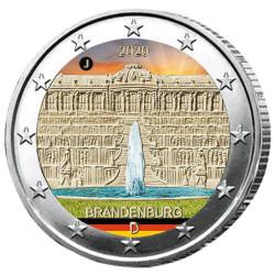 2 Euro Allemagne 2020 colorisée - Palais de Sanssouci