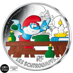 50 Euro Argent France 2020 - Grand Schtroumpf