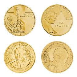 Coffret commémoratif Vatican Andorre 4 x 2 Zloty 2003-2014 - Jean-Paul II