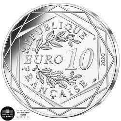 10 Euro Argent France 2020 colorisée - Gargamel et Azraël