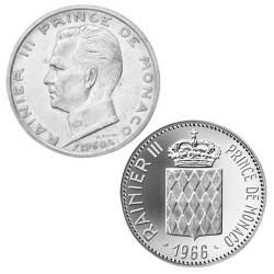 Lot des 2 x 5 Francs et 10 Francs Argent Monaco