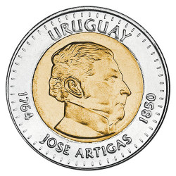 10 pesos Argent Uruguay 2000