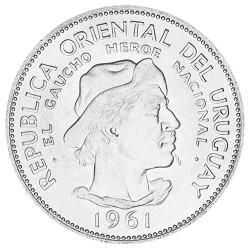 10 pesos Argent Uruguay 1961