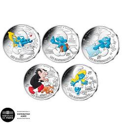 10 X 10 Euro Argent 2020 - Schtroumpfs